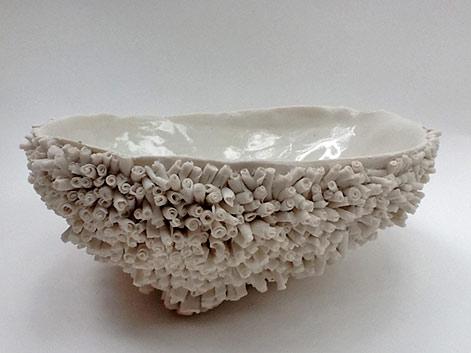 Marianne-Vandebussche-porcelain-dish-textured exterior, smooth interior