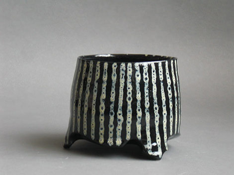 Nicolas-Raguin black and white striped cup