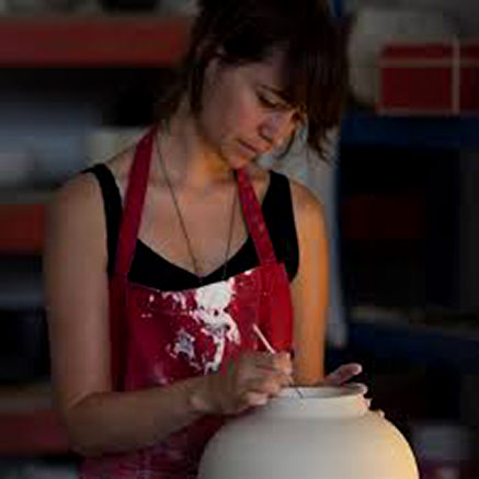 Olivia-Walker--ceramic-artist in studio