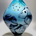 Peter Hermansson art glass vase