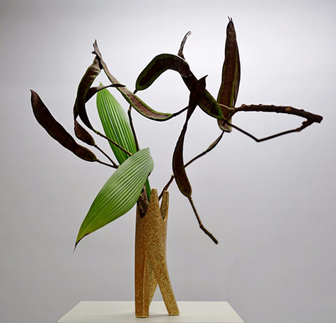 Poinchiana-Pods-construction- Pats Ikebana--2015