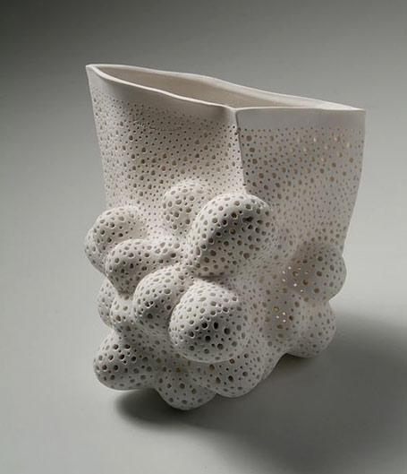 Renhilde Van Grieken sculptural ceramic form
