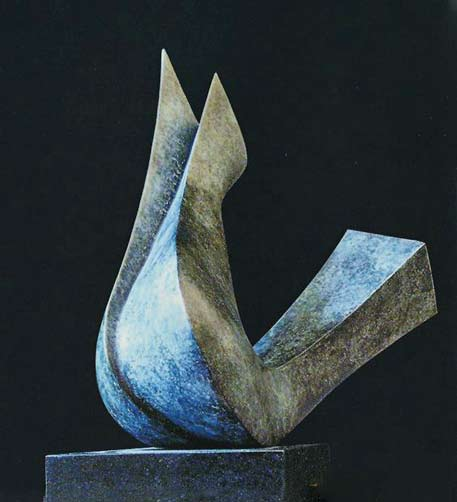 Abstract dove sculpture-dynamische-vorm.-Vogel-abstrater