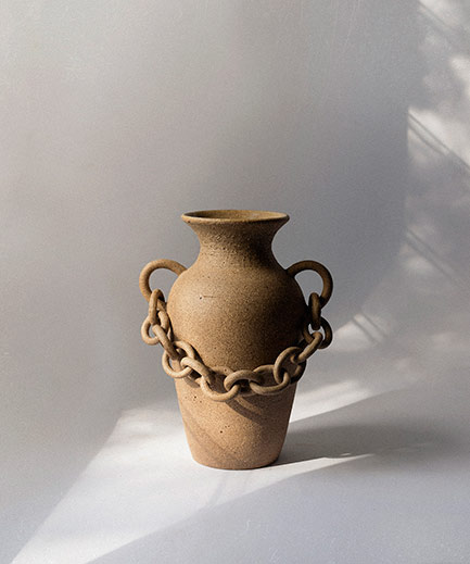 Ceramic Chain Vase--Nicolette-Johnson
