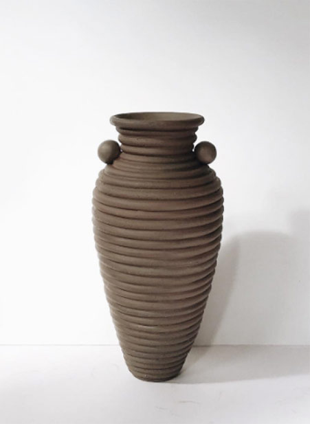 Large-coil-built-urn-Nicolette-Johnson chocolate brown colour