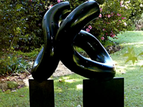 Nero-on-Edge-by-Malcolm-Utley black abstract sculpture
