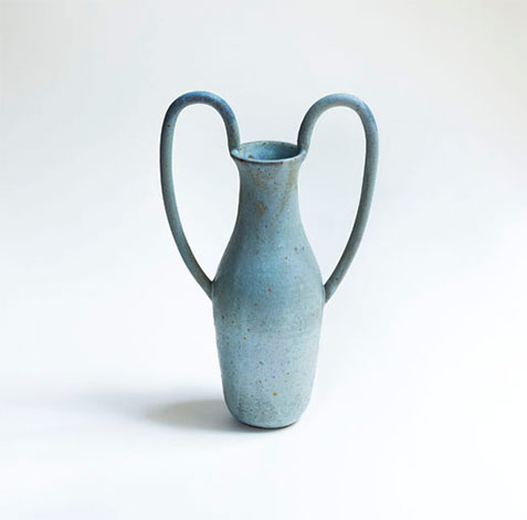 pastel blue large handled vases Nicolette Johnson