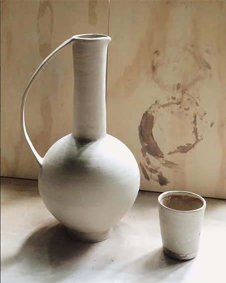 Nicolette-Johnson-white ceramic jug-and-cup