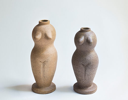 Nicolette-Johnson_ceramic Females-vases