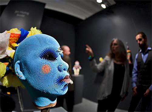 SOFA-Chicago--Jan-Huling beaded head sculpture