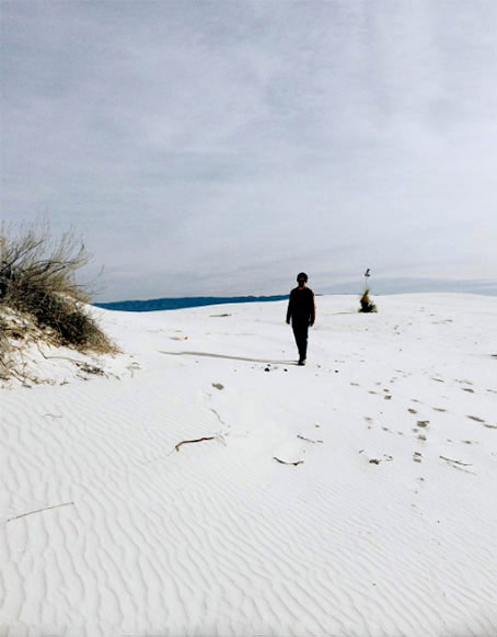 White-Sands-Nicolette-Johnson -- photo of solitary person on beach
