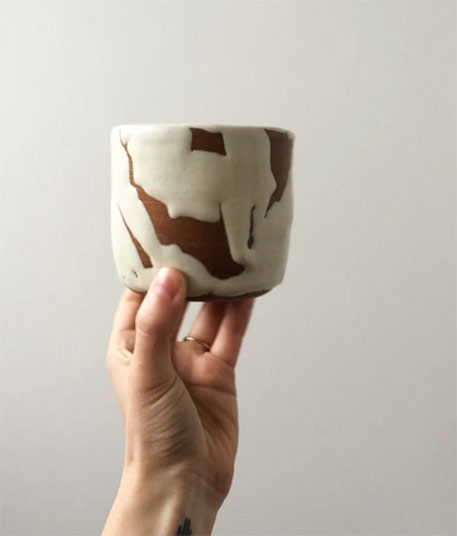 White-slip-ceramic-cup-Nicolette Johnson