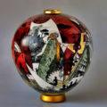 BAROCCO ceramic globular vessel-J. Massard & R Tarone