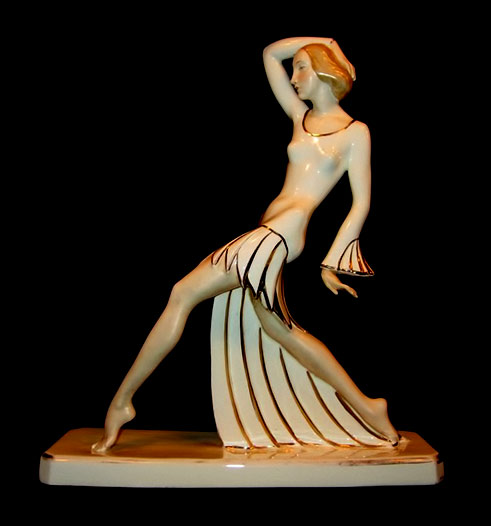 Royal Dux Art-deco ceramic figurine