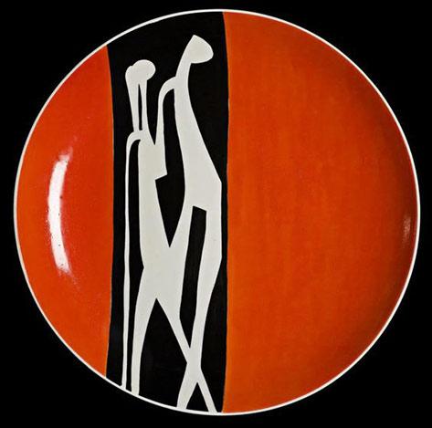 Modernist motif plate-Krzysztof-in-Walbrzych, Poland