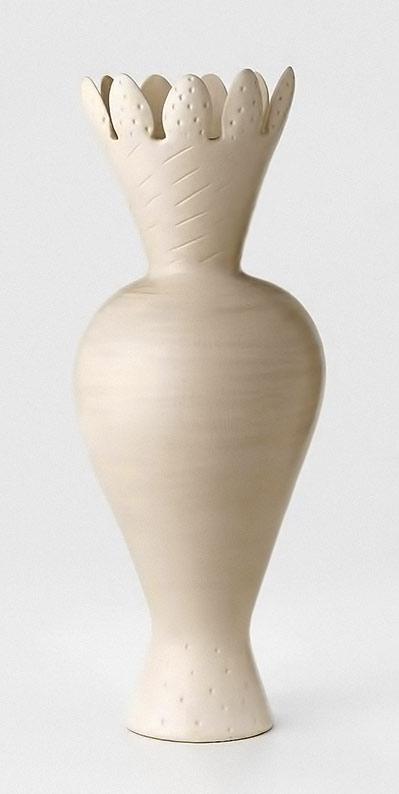 Botanical figure-II---Fiona Murphy--1994---stoneware vase