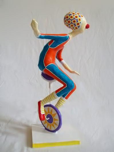 Fábio de Souza Pinheiro unicyclist clown