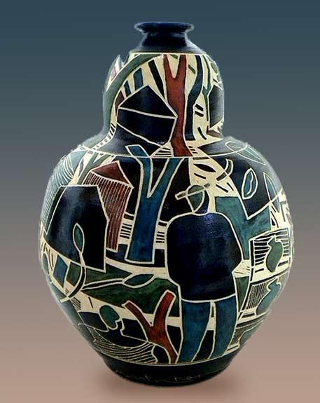 Marty-Ray---The-Neighborhood ceramic vase