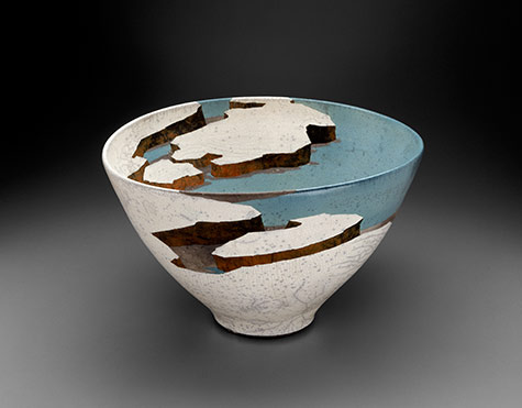Mirage Lake_Wayne Higby sculptural vessel