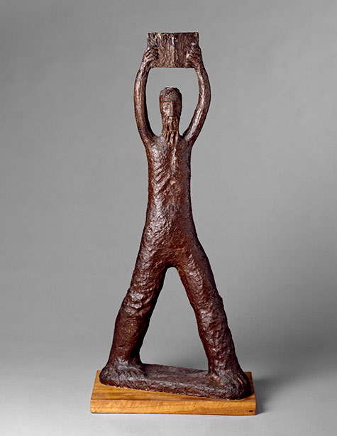 Moses and the tablets-Karl Duldig-1956-Earthenware
