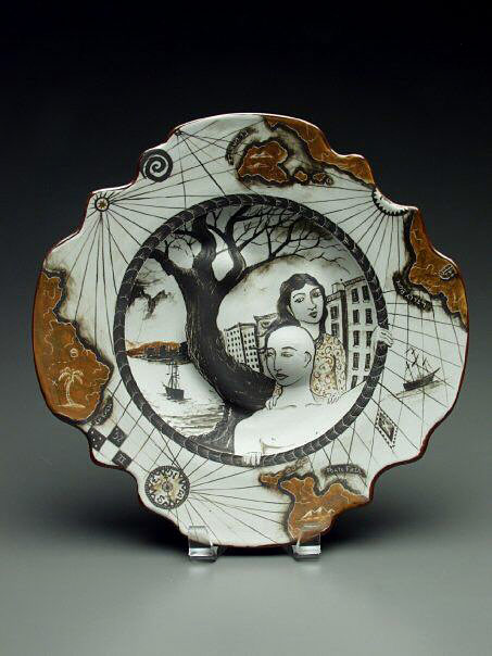 Seth-Rainville-ceramic plate with couple