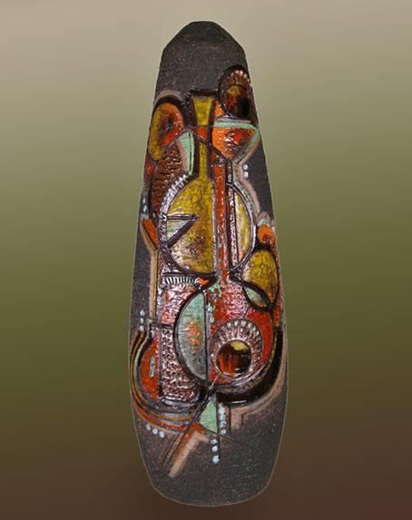 Italian Mid Century abstract motif vase