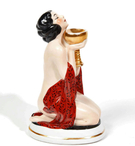 Aladdin. La France.-The offering.-Circa-1925-1935 Nude female figurine