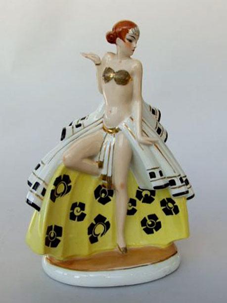 Art Deco Perfume Lamp-Folies-Bergeres-Dancer-Night-Light-Sheryls Art Deco