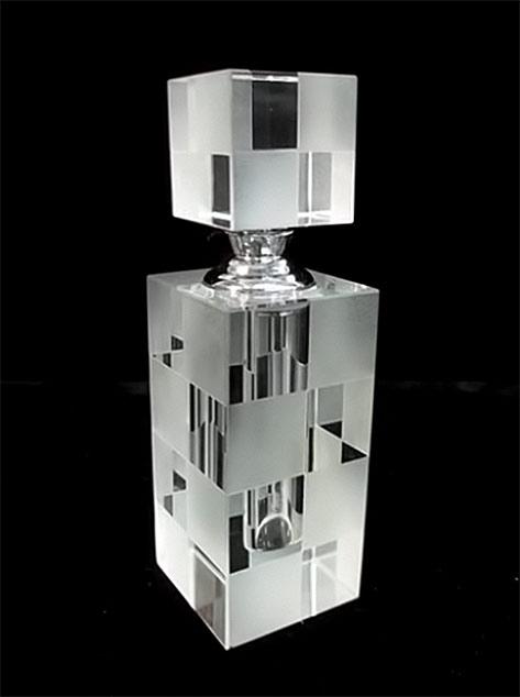 Crystal-Art-Deco-Cubist Perfume-Bottle-Live auctioneers