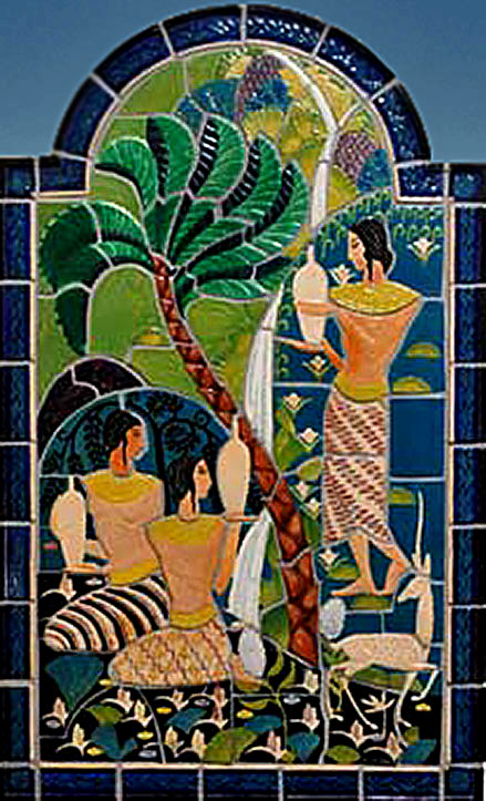 The 1930 'Egyptian Maidens' mural by Elsa Vick Shaw, a Cowan artist, was recently restored