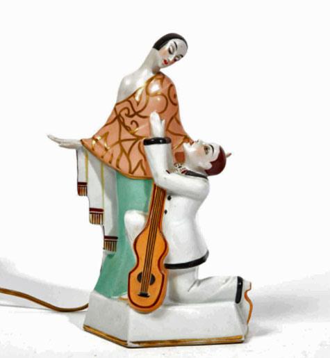 Paris Porcelain Art Nouveau Period Lamp Chinese Taste: Fragrance Atomisers, Incense Burners