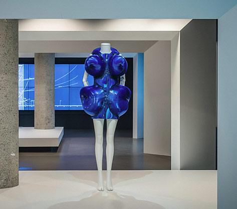 Iris Van Herpen futuristic Dress-2011 on display at NGV Triennial 2017---photo Tom Ross