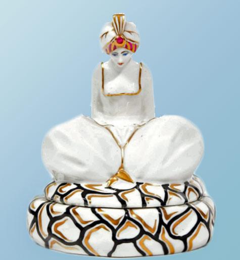 JB France.-Hindu princess porcelain figurine