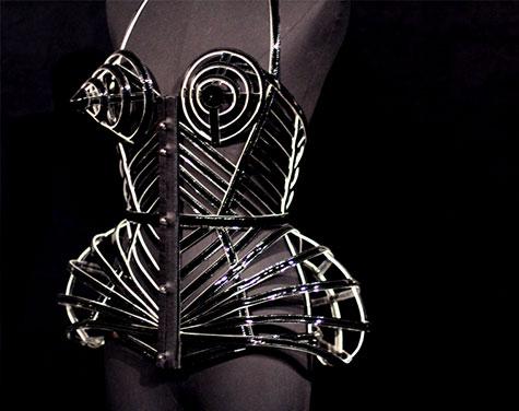 Jean Paul Gaultier+NGV Lei Lady Lei sculpture couture