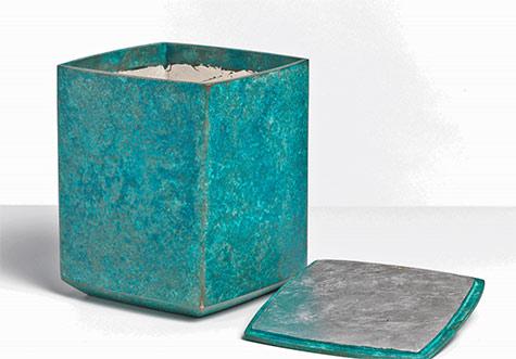Koji Hatakeyama square bronze box