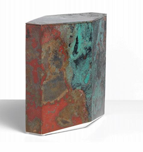 Koji-Hatakeyama -lidded bronze box sculpture