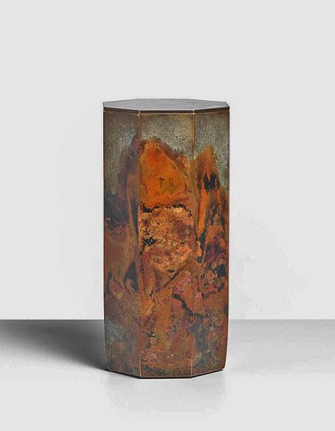 Koji-Hatakeyama-Eight-Faces,-2017 bronze lidded vessel