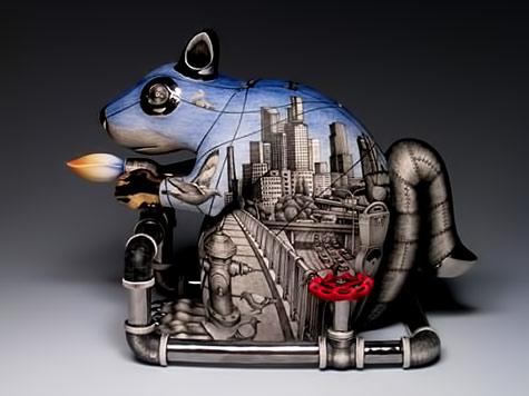 Sergei Isupov---Mechanical Dummy ceramic teapot