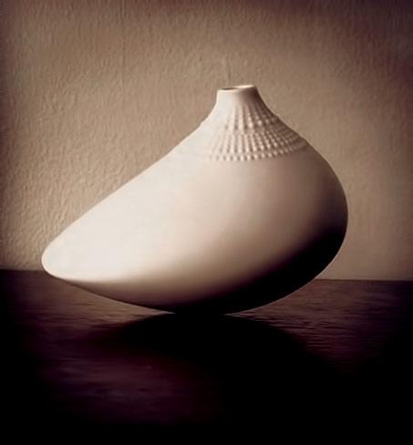 Tapio Wirkkala-white Pollo Vase