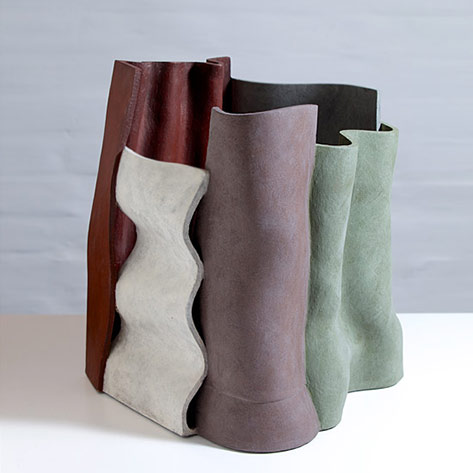 Winter Gives Way Ken Eastman ceramic sculpture
