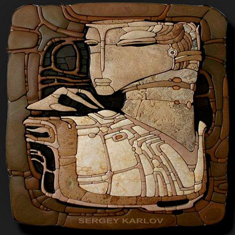 Sergey Karlov--stone mosaic aart