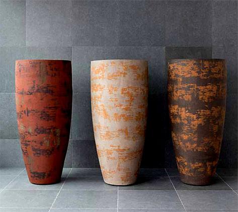 Atelier-Vierkant AHC-mixed clay colour pots