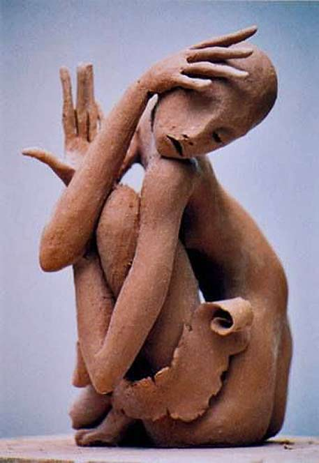 Georges-Saulterre clay sculpture