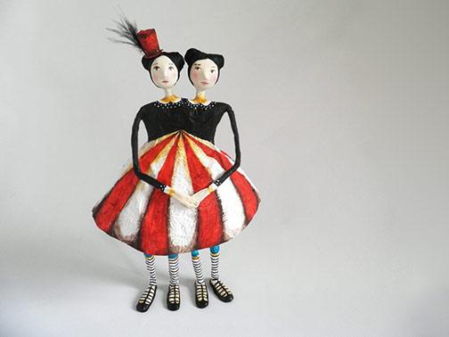 Natalia-Mendoza - paper mache siamese twins