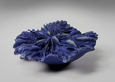 Pascale-Lehmann blue ceramic sculpture