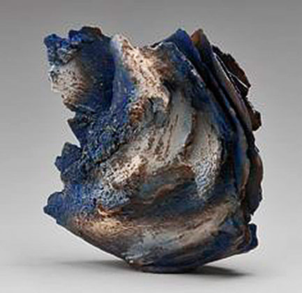 Pascale Lehmann raku sculpture