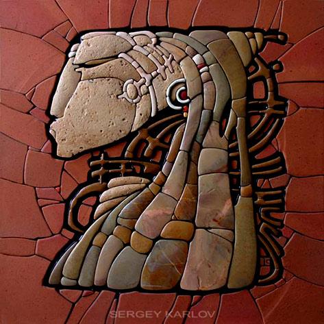 Sergey-Karlov-mosaic-art-panel - Mandala