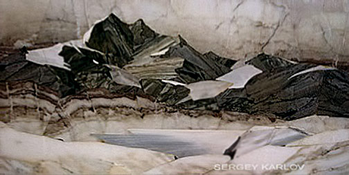'Thaw in the Mountains' mosaic-- Sergey Karlov
