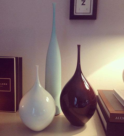 Sophie Cook ceramic contemporary vases in a decorative set