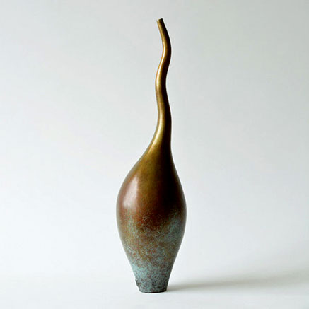 Flame-by-Vivienne Foley vessel with wavy neck